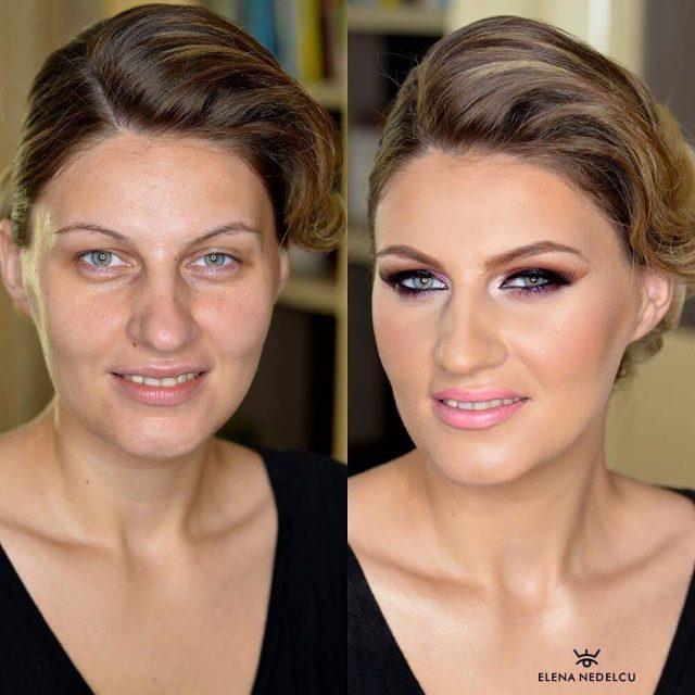 Lovely lady amazing feautures beforeandaftermakeup blueeyes pinklips makeupmafia undiscoveredmuas dupemaghellip